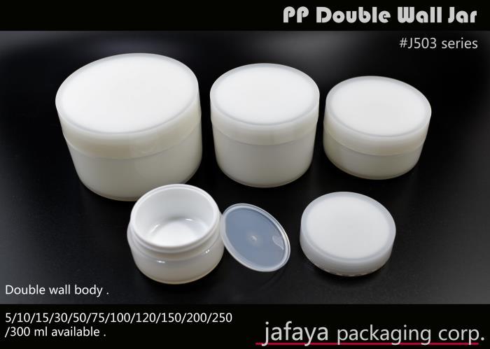 PP Double Wall Jar J503- 300ml